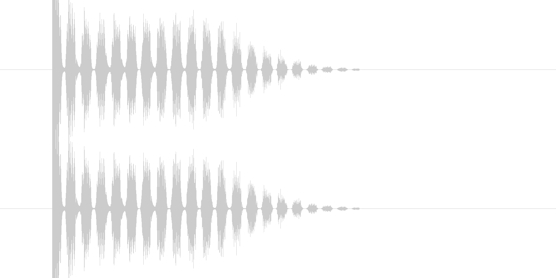 バシ ドン なパンチ、キックの打撃音03の未再生の波形