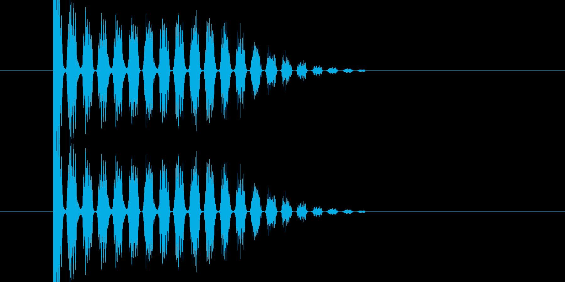 バシ ドン なパンチ、キックの打撃音03の再生済みの波形