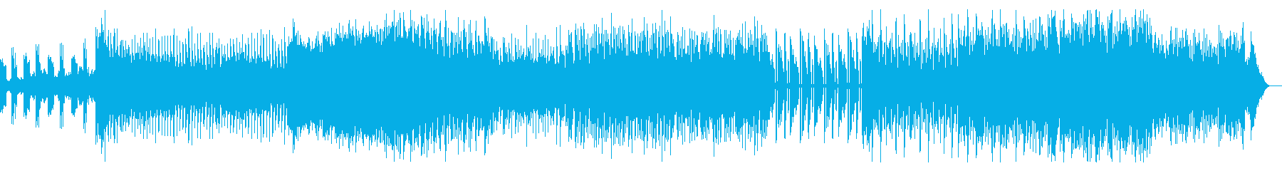 ダークなインダストリアルテクノの再生済みの波形