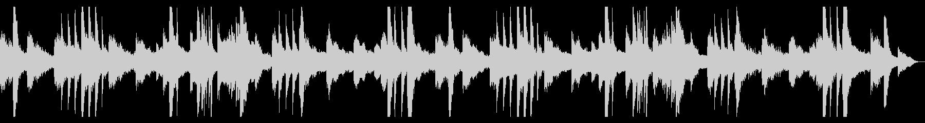 ピアノとギターのアンビエント1の未再生の波形