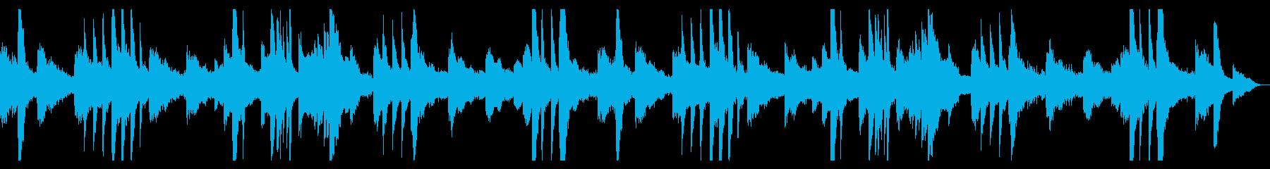ピアノとギターのアンビエント1の再生済みの波形