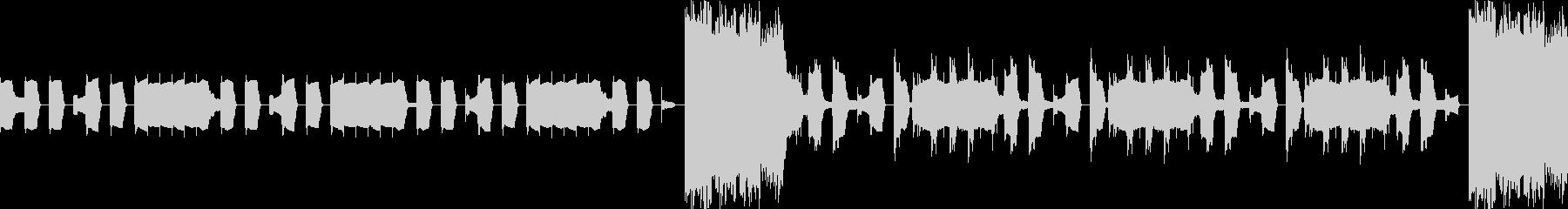 洞窟、ダンジョン、暗く切ない曲ループdの未再生の波形