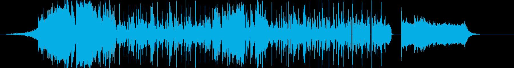 HipHop8小節(DJプレイ風)の再生済みの波形