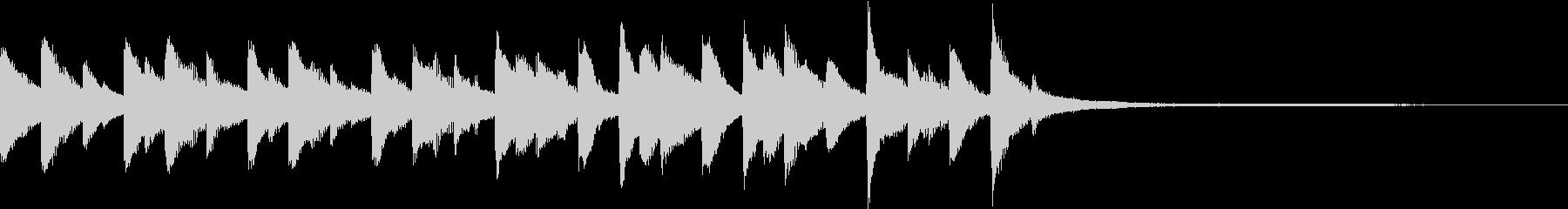 癒しのピアノ CM ジングル ショート1の未再生の波形
