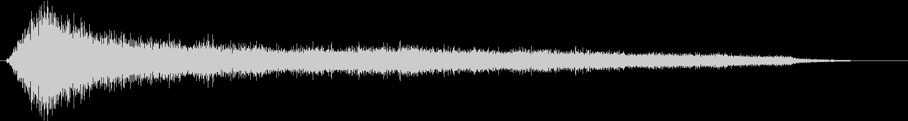 パーティクルインパクトテキストディゾルブの未再生の波形