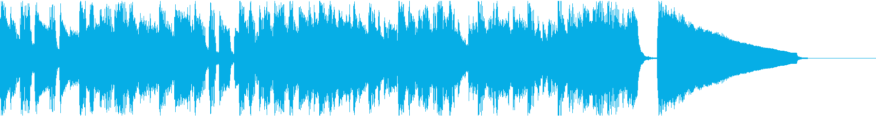 ベースのフレーズがよく動く曲の再生済みの波形