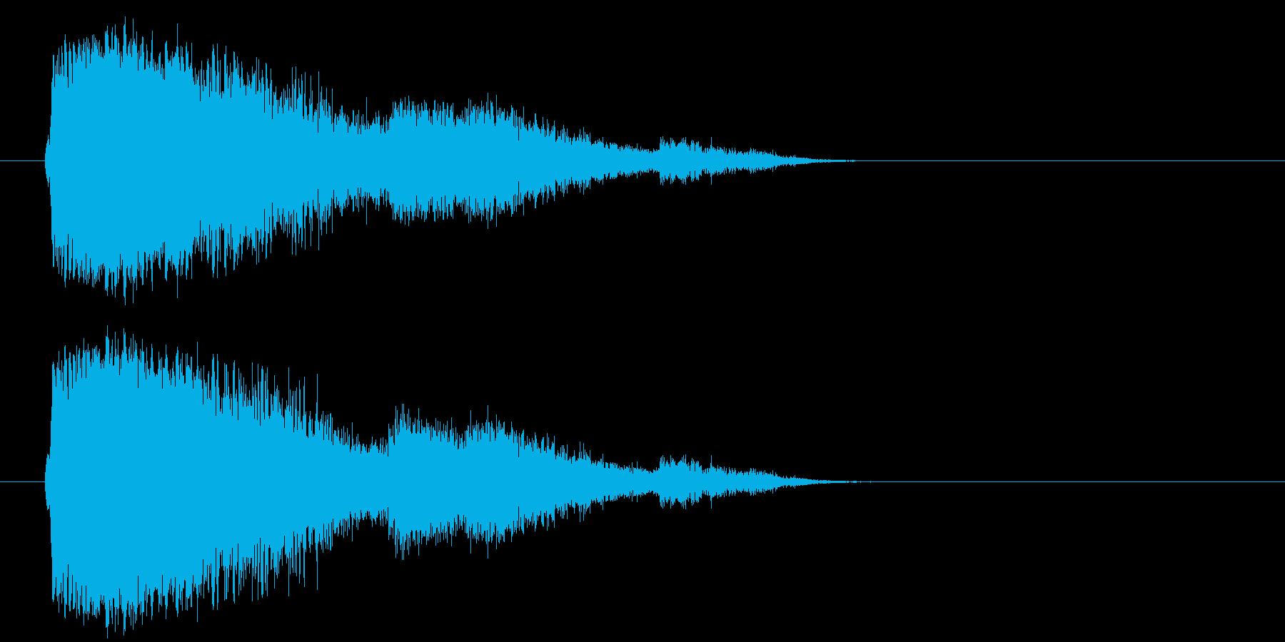 大きなタンブリングメタルクラッシュの再生済みの波形