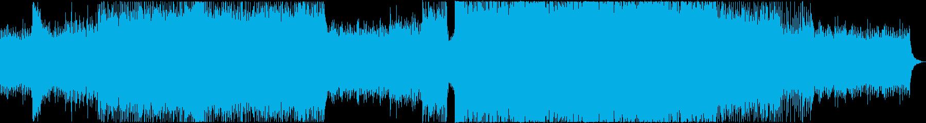 ドローン・絶景・壮大・感動・世界・EDMの再生済みの波形