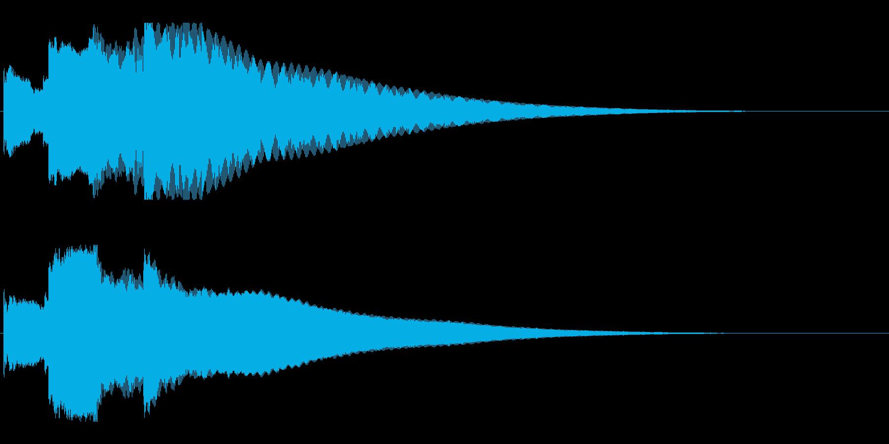 アナウンス後 チャイム-4_rev-2の再生済みの波形