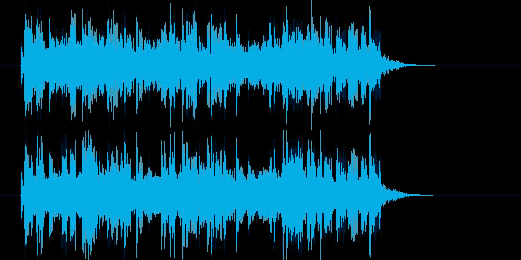 清涼感のあるポップソングの再生済みの波形