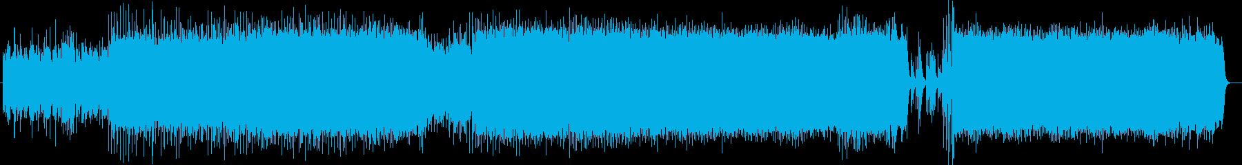 ハープの優しいメロディの穏やかなバラードの再生済みの波形