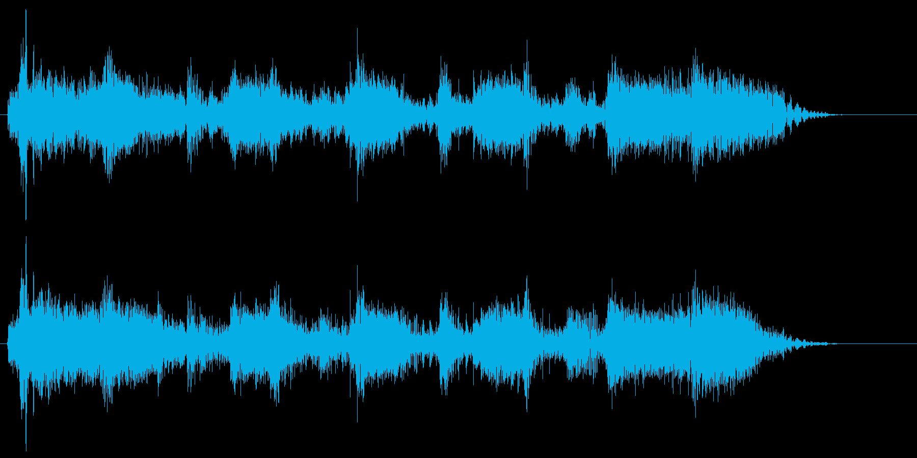 疾走感のあるロック系ジングルの再生済みの波形