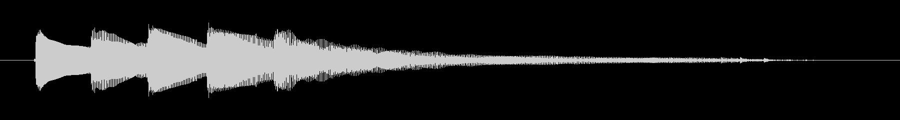 エレキギター風のシンプルなコードの未再生の波形