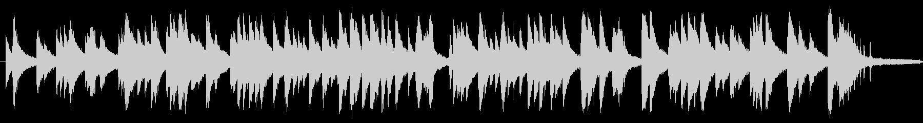 ジャズ風のしっとりとしたピアノソロの未再生の波形