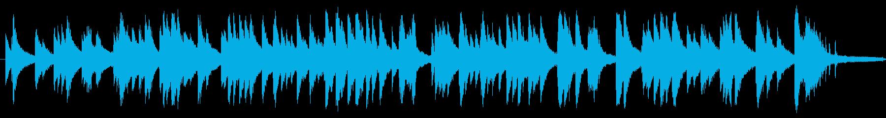 ジャズ風のしっとりとしたピアノソロの再生済みの波形