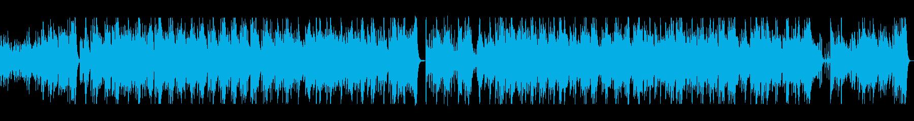 アコースティックギターの陽気なCM曲の再生済みの波形