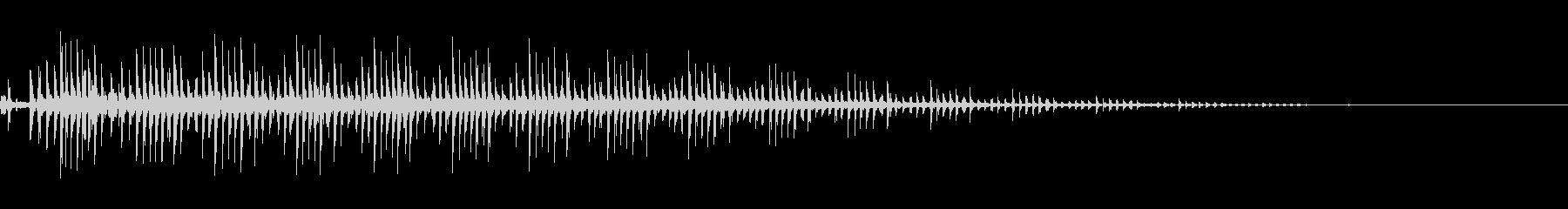 ゼンマイ・ギアを回す(カリカリ)の未再生の波形