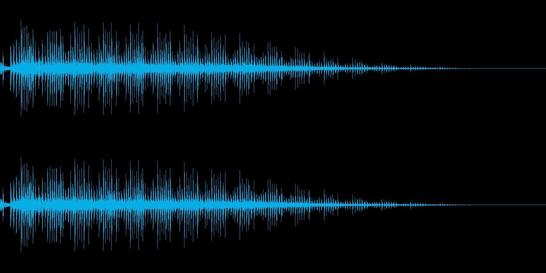 ゼンマイ・ギアを回す(カリカリ)の再生済みの波形