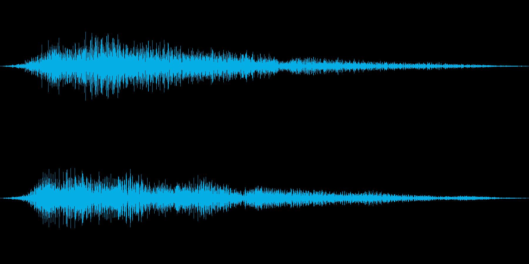 優しく未来的な音での回復音、ヒューーンの再生済みの波形