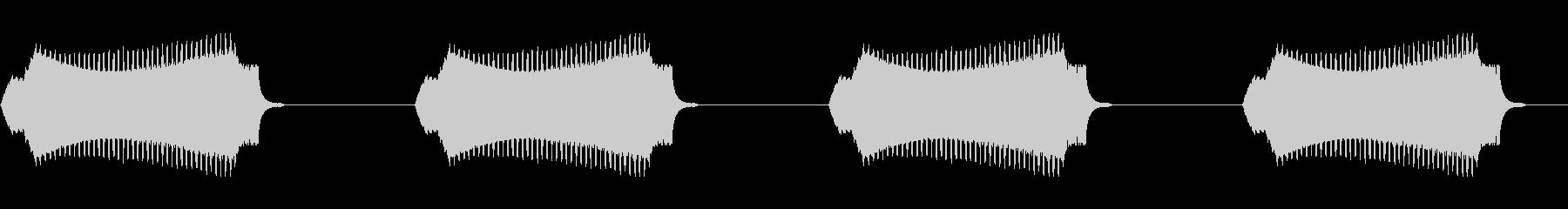 簡易警告アラーム2の未再生の波形