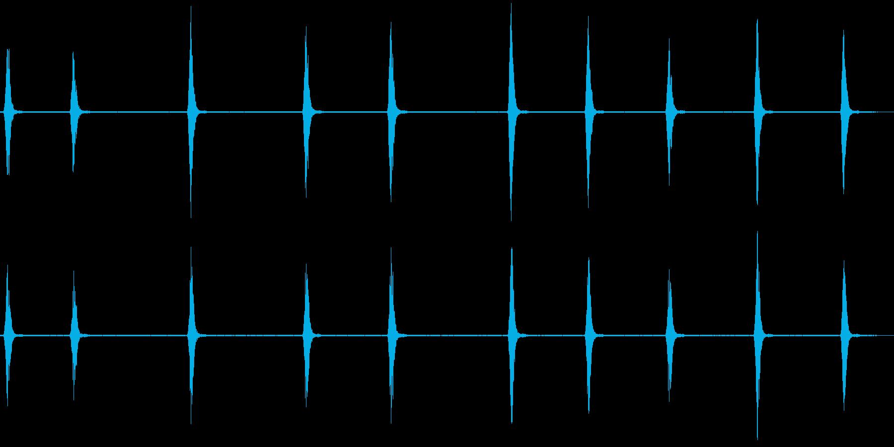 スズメの鳴き声1(チュンチュン)の再生済みの波形