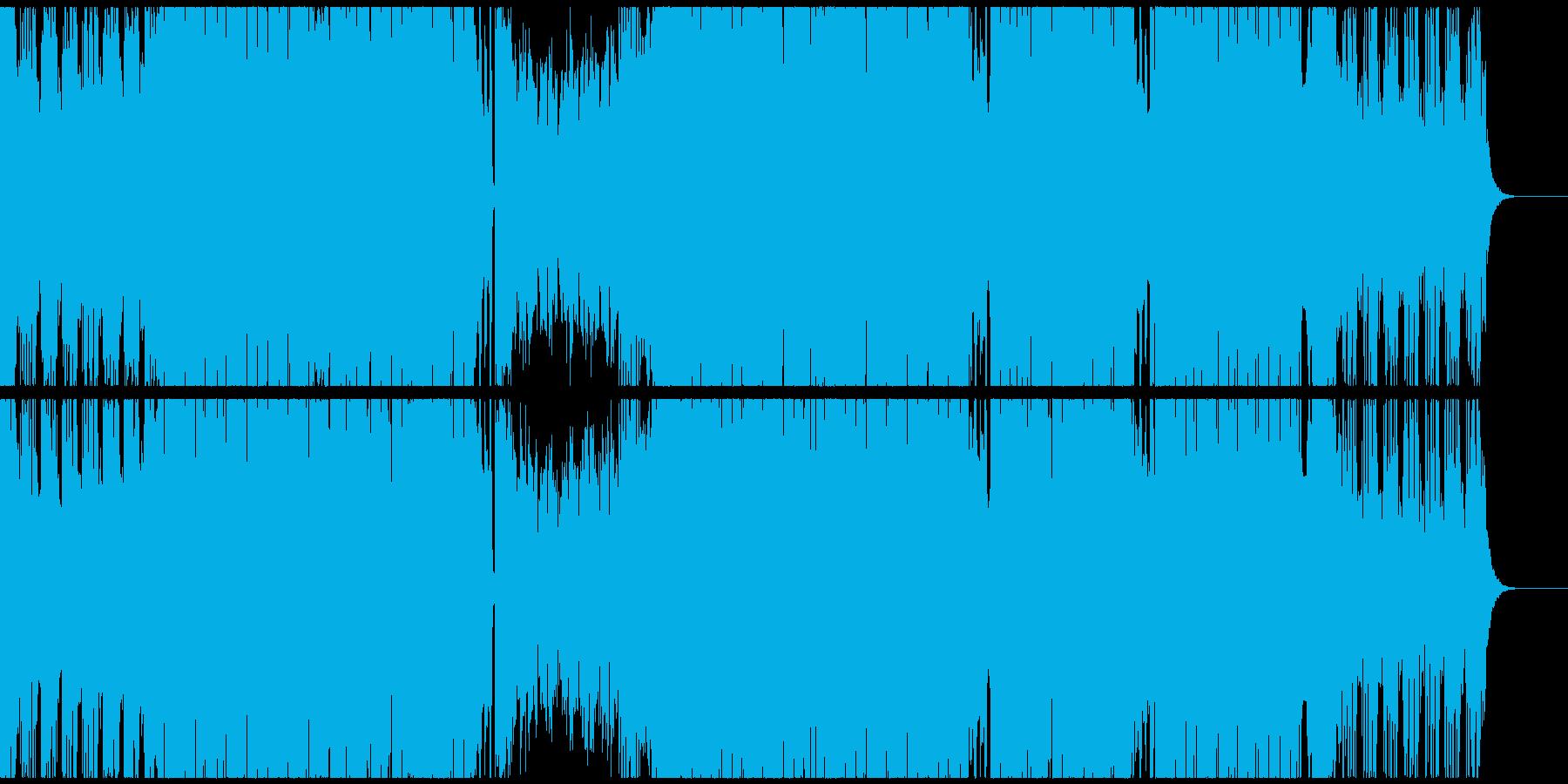 アーバンでスタイリッシュなEDMハウスの再生済みの波形