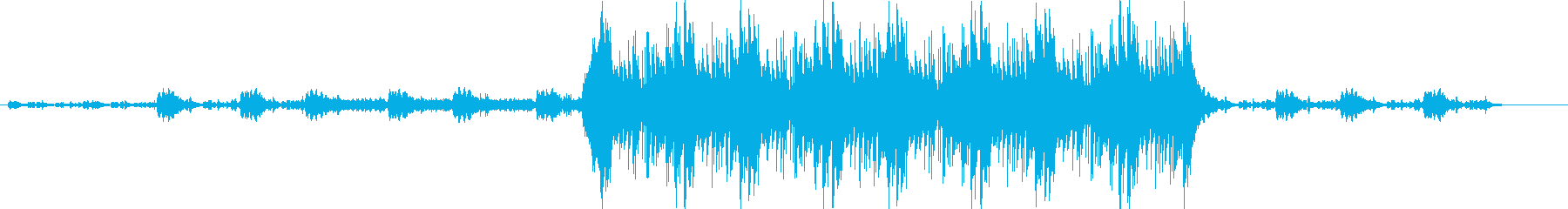 パニック系オーケストラ曲の再生済みの波形