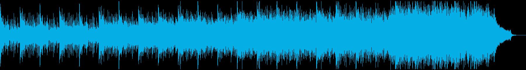 厳かな雰囲気のBGMの再生済みの波形