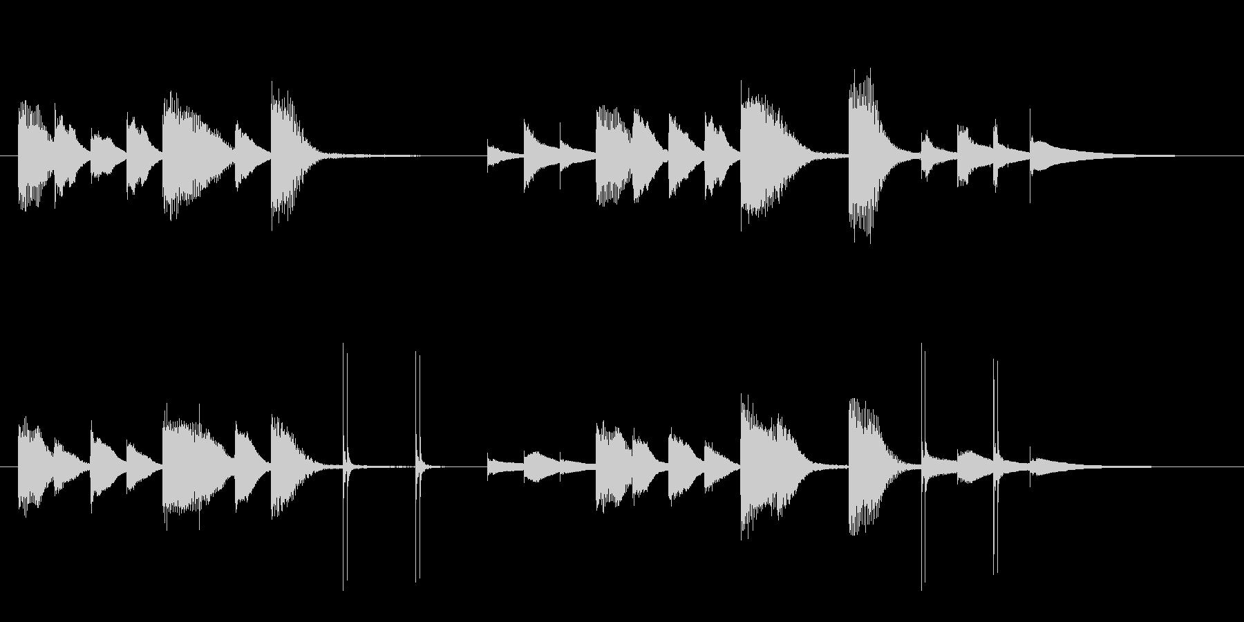 クリーン&モダン、メディア流行のサウンドの未再生の波形