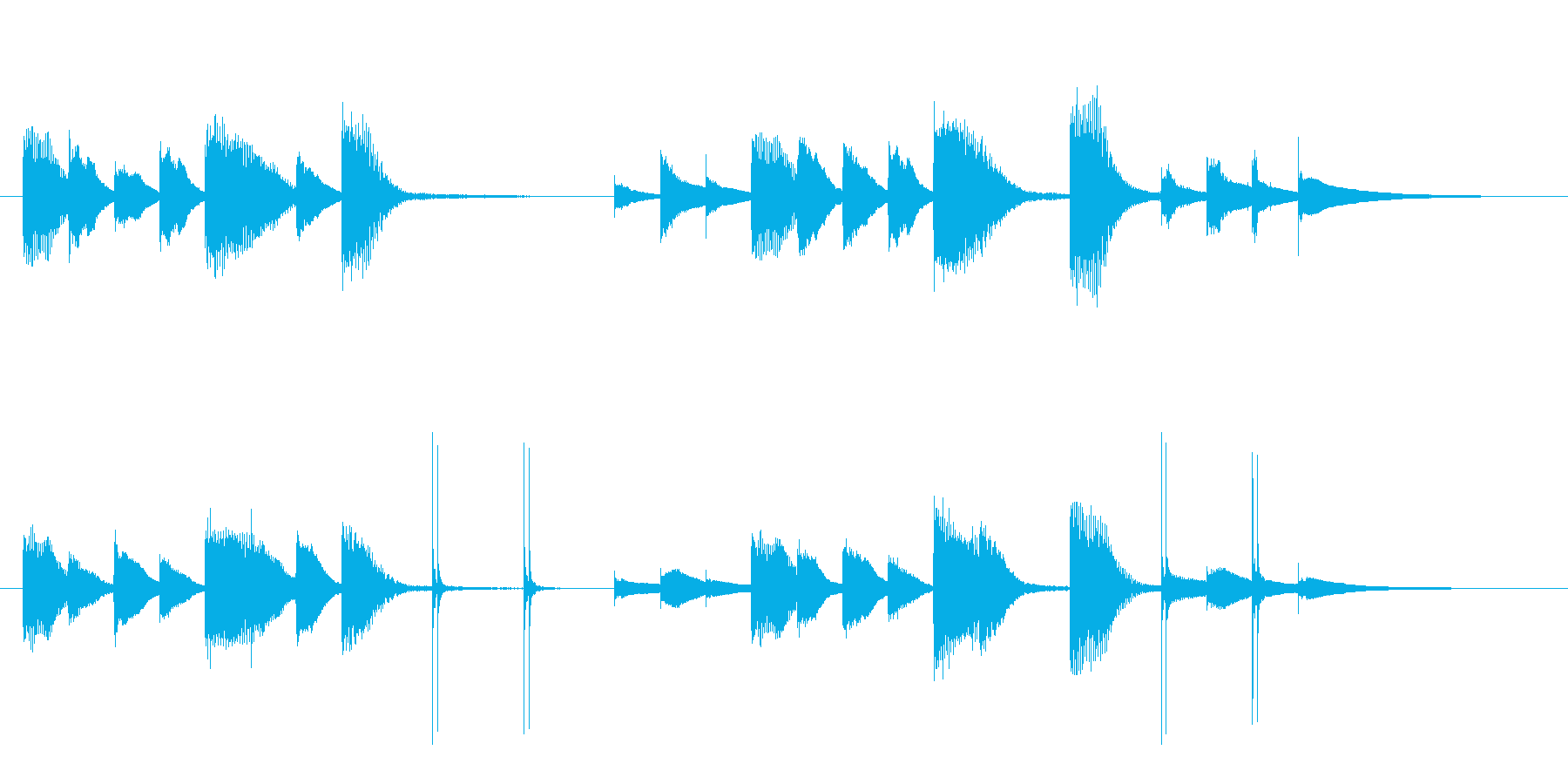 クリーン&モダン、メディア流行のサウンドの再生済みの波形