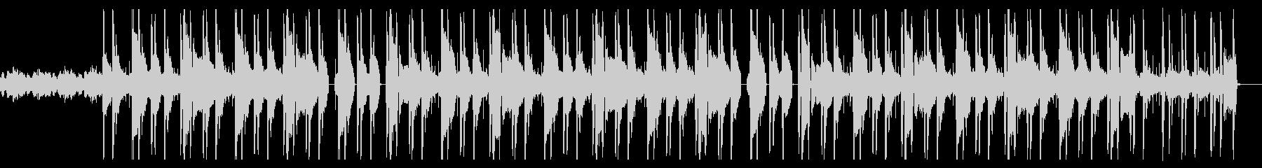 ダークで不穏なヒップホップ・トラップの未再生の波形