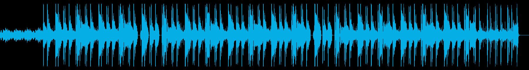 ダークで不穏なヒップホップ・トラップの再生済みの波形