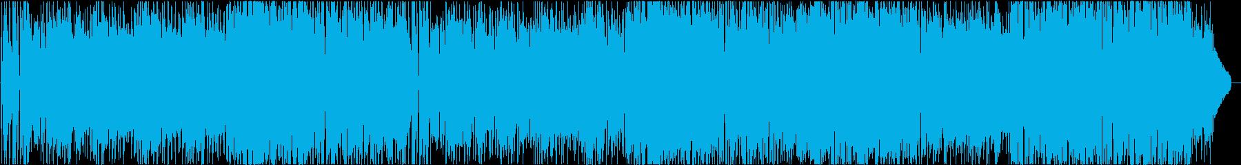 明るいシンセサウンドのポップスの再生済みの波形