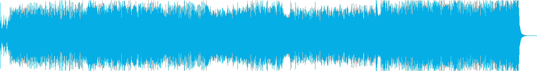 和風4つ打ちシンフォニックチップチューンの再生済みの波形