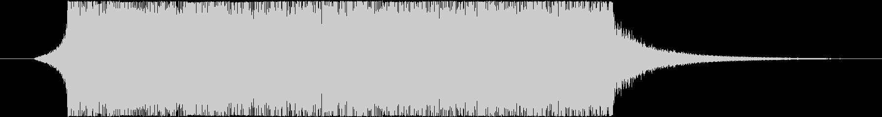始まり・終わりの予感ギターロックジングルの未再生の波形