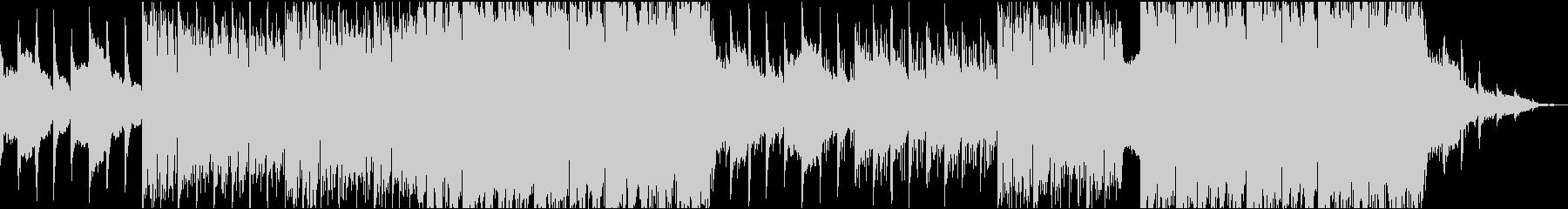 神秘的なボイスとオーケストラBGMの未再生の波形