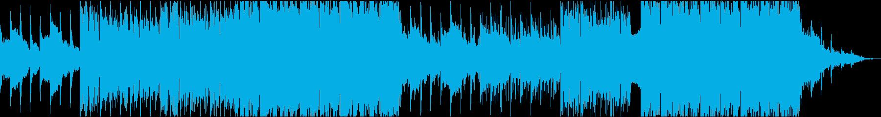 神秘的なボイスとオーケストラBGMの再生済みの波形
