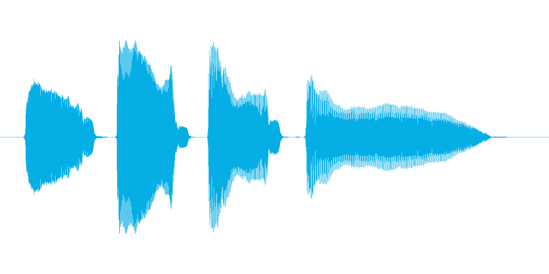 【ボイスSE】ピンポンパンポーン↓の再生済みの波形