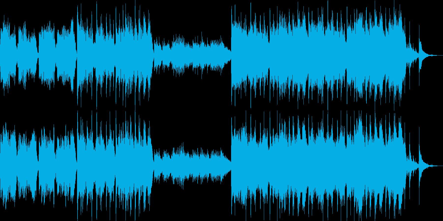 和風琴尺八ストリングス切ない京都和太鼓の再生済みの波形