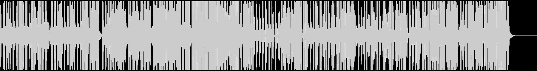 キャッチーなメロディと日本語の羅列の未再生の波形