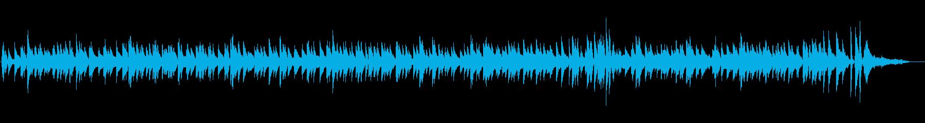 ピアノとヴィヴラフォンの落ち着いたジャズの再生済みの波形
