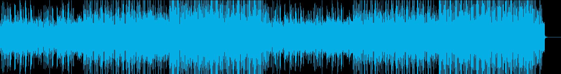 戦闘シーンで流れそうなゲーム音楽風の再生済みの波形