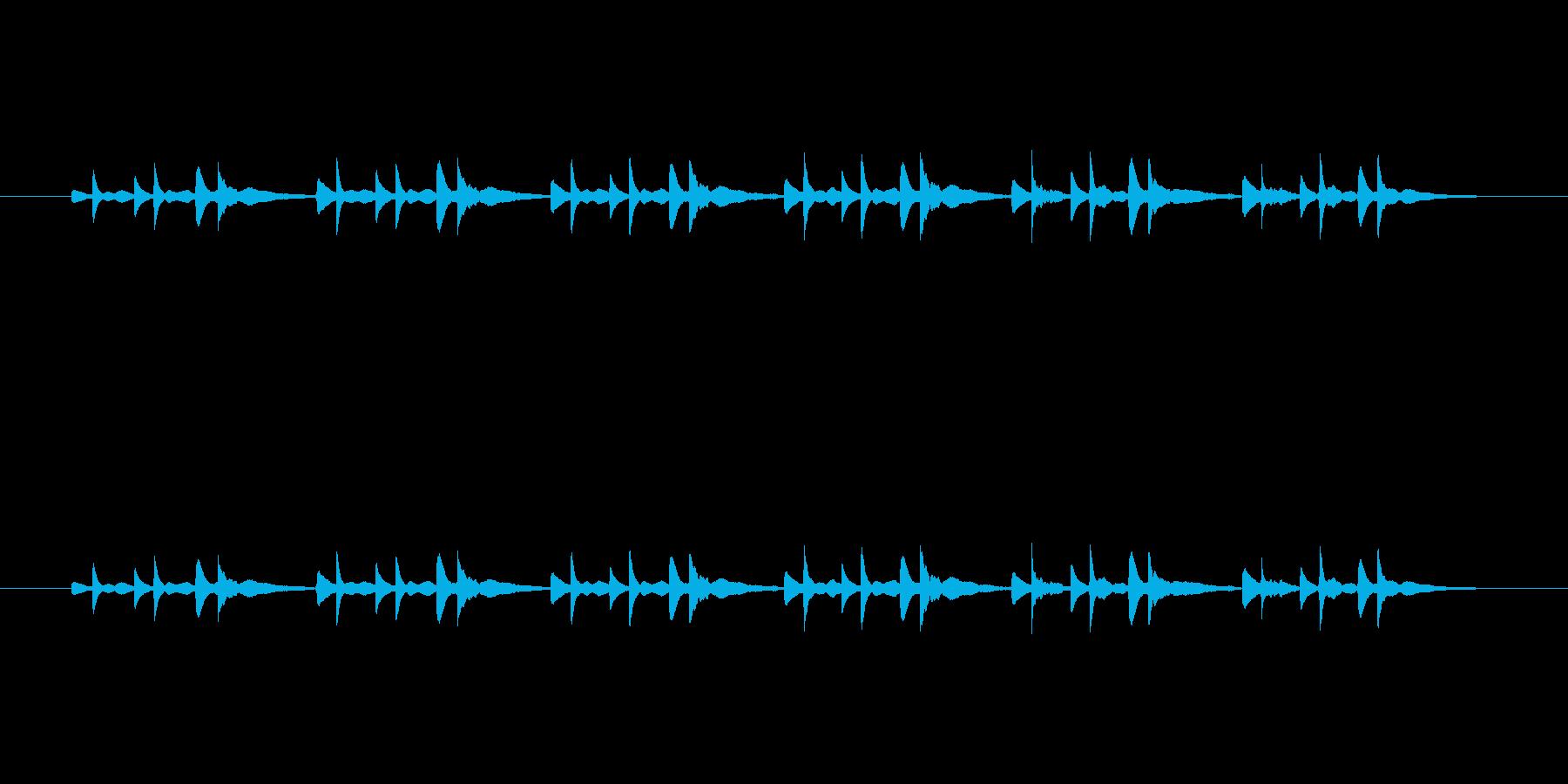 ピアノだけの曲です。の再生済みの波形