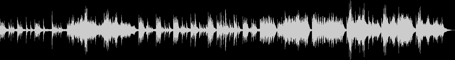 神秘的な雰囲気のケルトハープの曲の未再生の波形