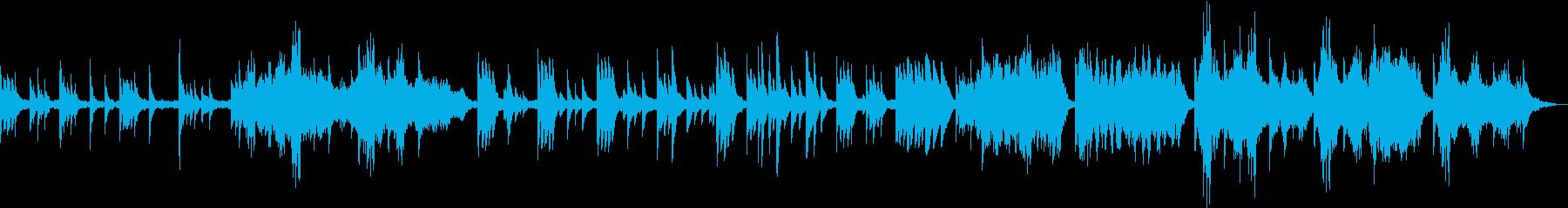 神秘的な雰囲気のケルトハープの曲の再生済みの波形