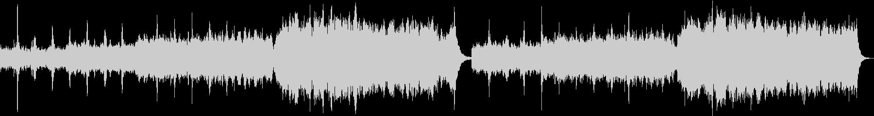 幻想的で透明感のあるアンビエント調の曲の未再生の波形