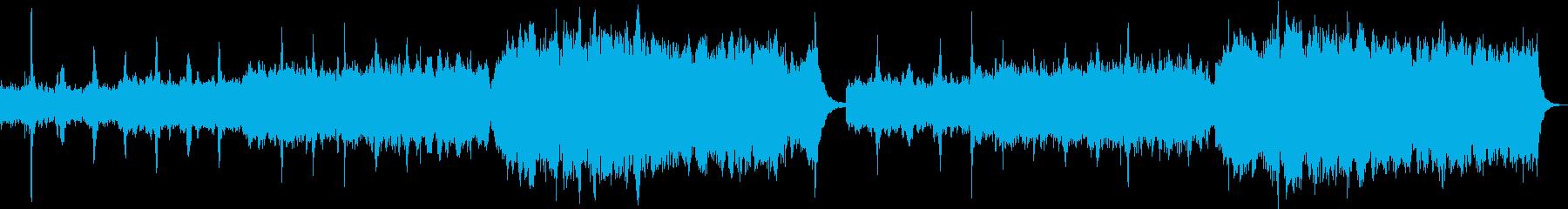 幻想的で透明感のあるアンビエント調の曲の再生済みの波形