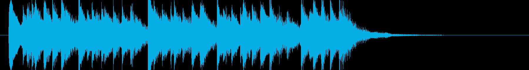 シンプルなアコースティックギターの再生済みの波形