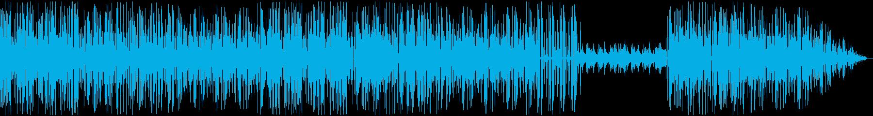ファミコン風10明るい歌もの楽曲の再生済みの波形