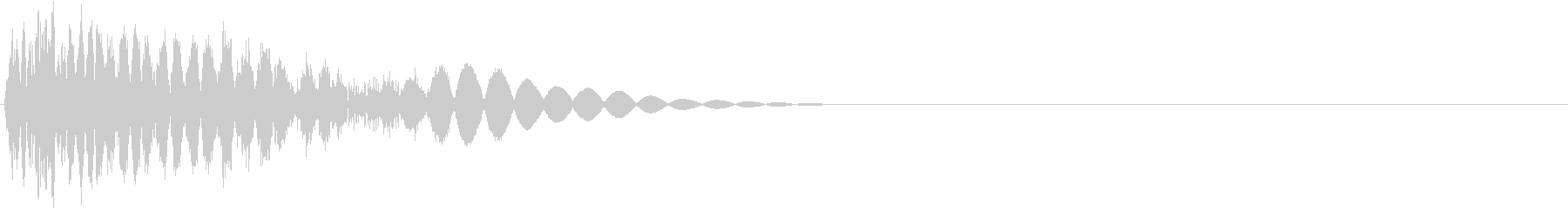 ビシッ(弱キック・物理攻撃・通常攻撃)の未再生の波形